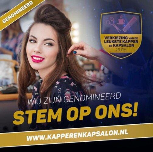 Haarstudio Eigenwijz gaat voor prijs leukste kapper/kapsalon 2019!