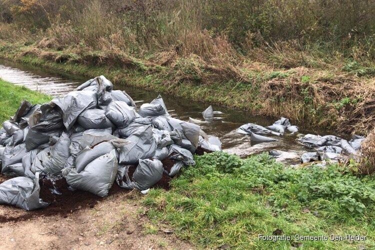 100 vuilniszakken met drugsafval in natuurreservaat