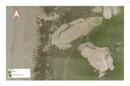 Dronebeelden laten eerste verstuiving in Noordduinen zien