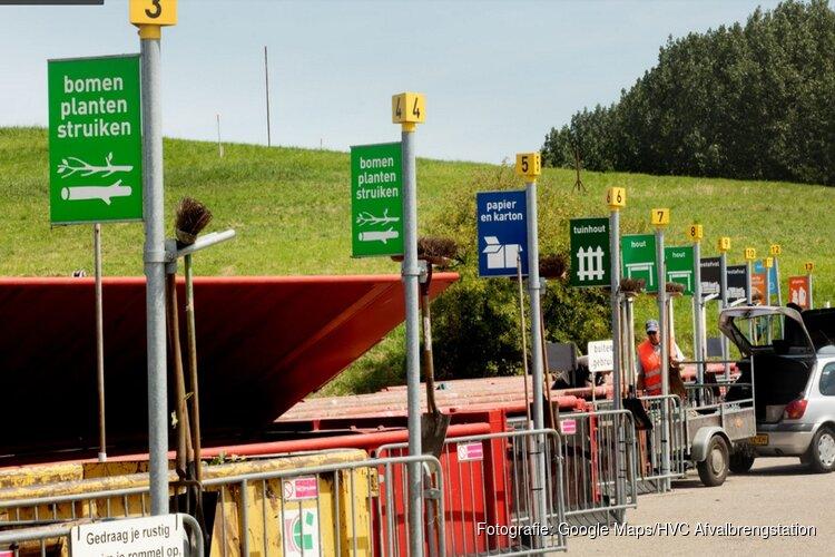 Het blijft druk bij afvalbrengstation Schootenweg