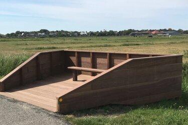 Nieuw: vogeluitkijkpunt op Grasdijk