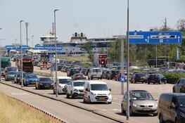 Drukte in Den Helder bij de boot naar Texel