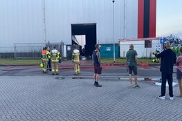 Kortstondige brand in loods