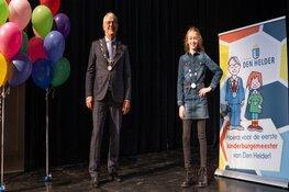Eerste optreden Helderse kinderburgemeester met koningin Maxima