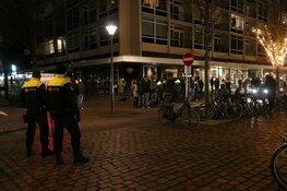 Demonstratie tegen avondklok in Den Helder