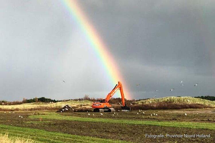Laatste fase werkzaamheden in natuurgebied Hanenplas op Texel