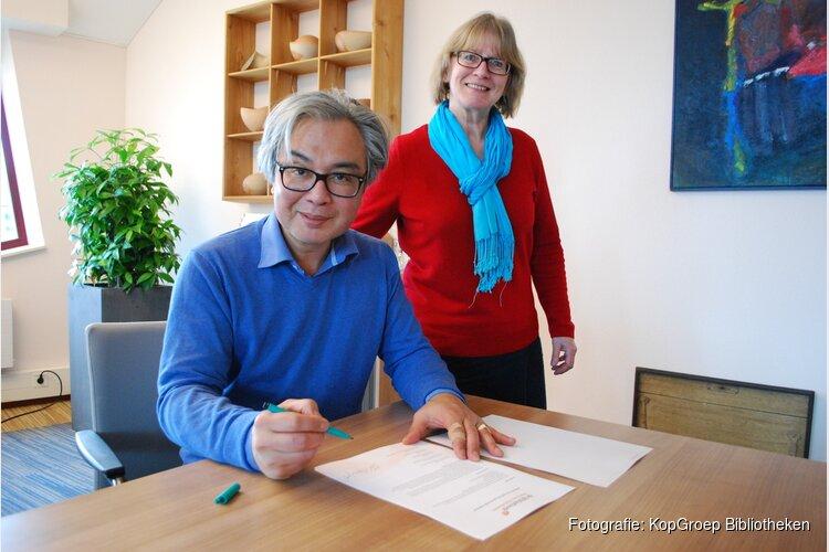 Wethouders tekenen convenant met KopGroep Bibliotheken