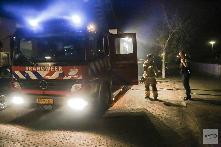 Uitslaande brand in schuur