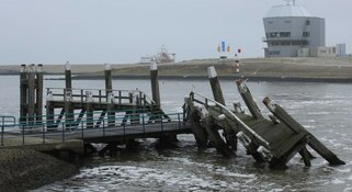 Reparatie aanlegsteiger TESO-veerhaven in Den Helder komt dichterbij