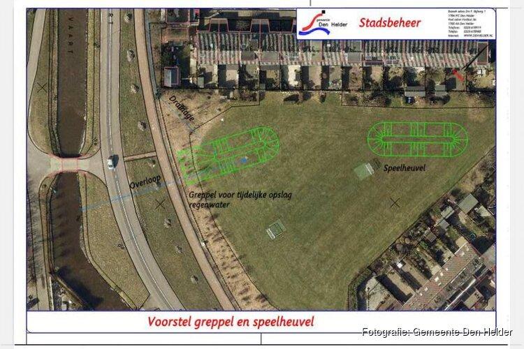 Geplande werkzaamheden op het grasveld tussen de Kano- en Treilerstraat