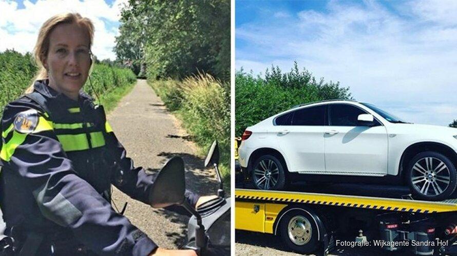 Alerte wijkagente bezorgt Duits gezin gestolen BMW terug