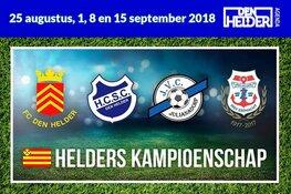 Vier teams strijden om Helders Kampioenschap voetbal