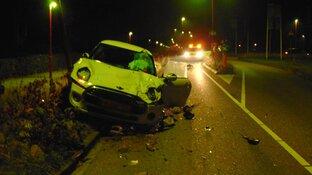 Veel schade bij eenzijdig ongeval