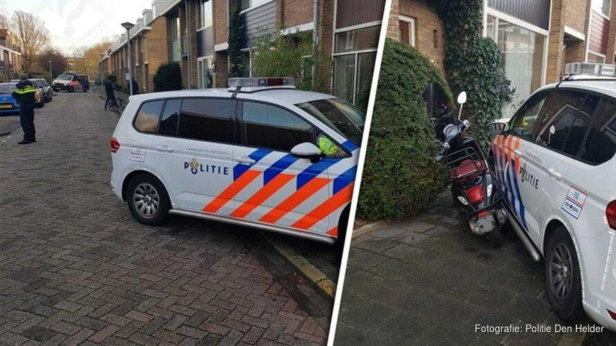 Scooter klemgereden na negeren stopteken in Den Helder