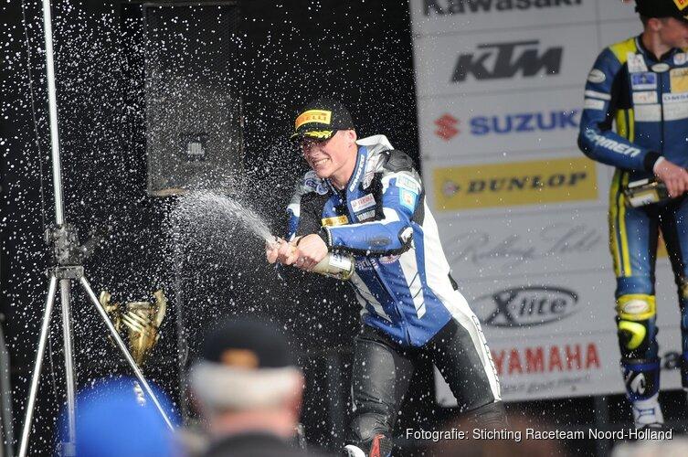 Finn de Bruin in 2019 aan de start van WSS 300 met Trasimeno Racing.