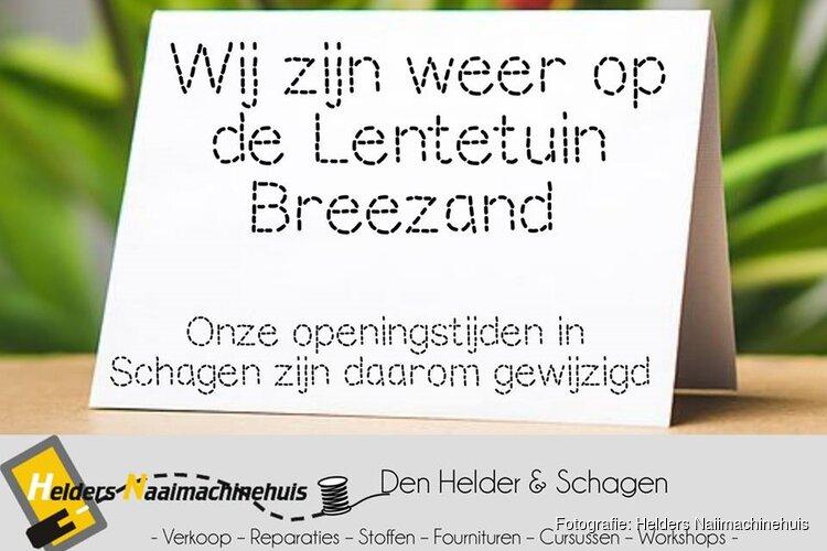 Van 28 februari t/m 4 maart is het Helders Naaimachinehuis weer aanwezig op de Lentetuin te Breezand